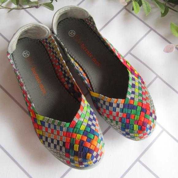 935ef494b54f69 Shoes - Bernie Mev Rainbow Catwalk Multi Stretch Lo Flats
